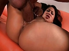 Asian bitch Kayme Kai plays with fat black Cock