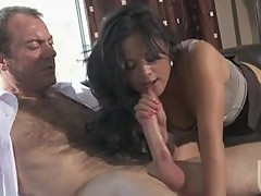 Super Horny Asian Office Slut Kaylani Lei Gets Fucked and Facialized