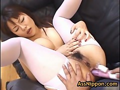 Slut Rei Himekawa gets anus toyed
