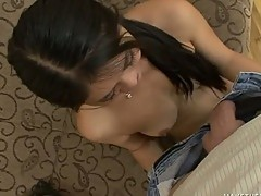 Cute Ruby Luxe takes a coarse gag fucking