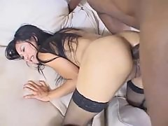Tia Ling and a black guy do anal scene