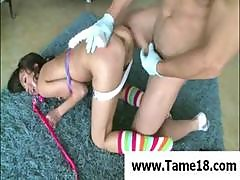 Young Asian Teen Is Tied Up And Ridden Hard By Her Master