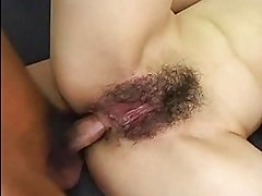 Stunning Asian riding cock and then tied up like a