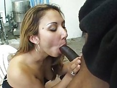 Horny Asian woman gets dick