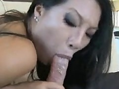 Lascivious paRAmour Asa AKIra slips a juicy dick in her Mouth like a Lollipop