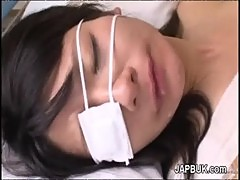 Japanese gets her mouth filled with cum after facefuck
