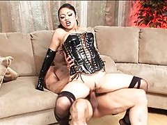 Hot Asian dominatrix fucks