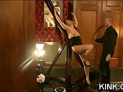 Hot pretty girl dominated in extreme BDSM
