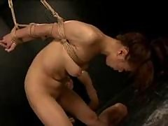 roped asian fist fucking