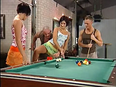 Billiard foursome