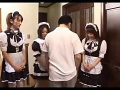 French maid is Japanese and horny