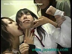 Girl gang bang d by lesbians in elevator