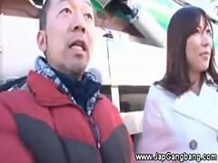 Sexy asian street interview for all