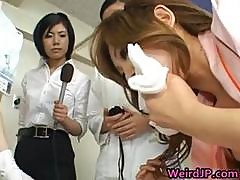 Asian Wife Is Examining Female Workers 7 Part5