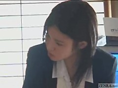 Cute Japanese hotel busgirl gives cock ma ...