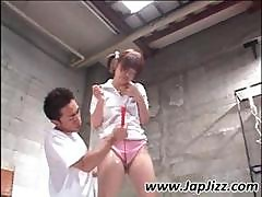 Young Asian Girl Is Showered And Toyed In Her Hairy Twat Then Gets A Golden Shower
