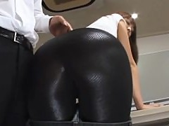 Sae Aihara Gets Teased And Masturbated In Tight Latex Pants