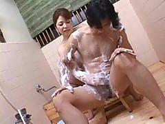 Mom in bathroom fucked by cock