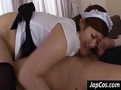 Japanese Maid Shows Off Her Ass And Does Sixty-nine With Her Boss