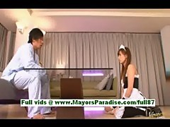 Tiara ayase, gorgeous japanese maid at home