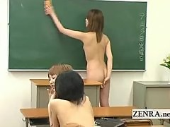 Naked in school Japan shy nudist schoolgirls entrance