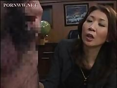Asian Mature Sits On His Face In The Office And Gets Pussy Licked