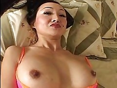 Dark haired asian girl with nice boobs gets hard cock up her...