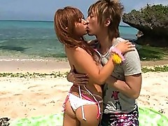 Kokomi Naruse kisses a friend outdoors and gets horny