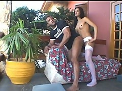 Thaina horny tranny in action