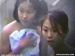 Young girls enjoying bathing