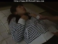 Sleeping Japanese pussy fingered