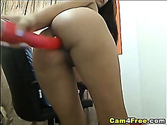 Hot Asian Double Dildo Show HD