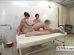 Japanese Naked Sauna Lady Group Massage And Striptease