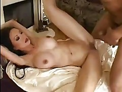 Pornstar Ange Venus gets hewr tight shaved pussy thumped wit...