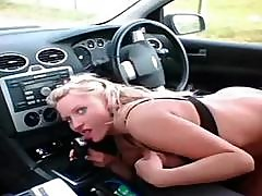 Hitchhiker Slut Gives Her Cunt To Fuck In Exchange For Ride