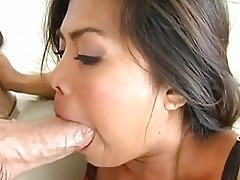 Cock starving honey Arcadia Davida whacks her mouth with a m...