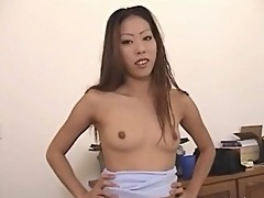 Asian amateur housewife Ayako delivers hot blowjob