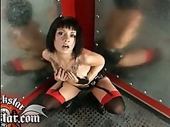 Hot tattooed Coco Velvett munches a massive cock like a yumm...