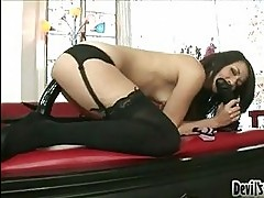 Coco Velvett slides her hole on a huge toy cock stuffed in h...