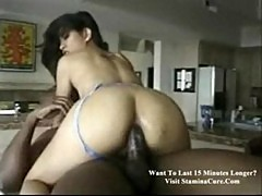 Jade marcela interracial sex in the kitchen
