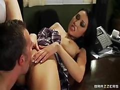 Brunette Jayden Lee Trades Oral Sex And Then Gets Banged In The Ass